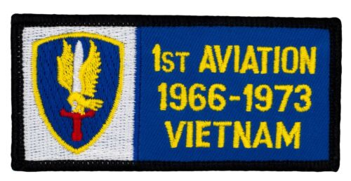 """261 1st First Aviation 1966-73 Vietnam Patch 4/"""" x 2/"""" Embroidered Patch 54056"""