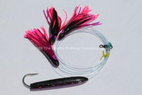 Mahi et Wahoo 4 pouces Violet Holographique Cedar Plug avec Daisy Chain pour le thon