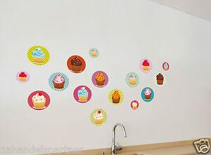 XXL-Wandtattoo-Set-Kuchen-16-Muffins-Raum-Geburtstags-Deko-Wand-Tattoo-Neu