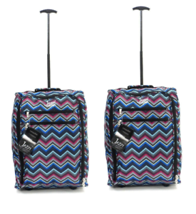 Ryanair Easyjet Flybe Set of 2 Cabin Approved Trolley Suitcase Hand Luggage Bag