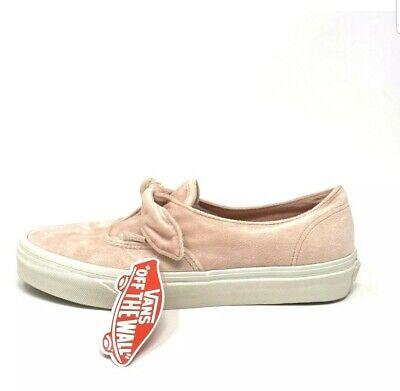 Vans Authentic Knotted Velvet Rose Cloud Women's 11.5 Skate Shoes | eBay