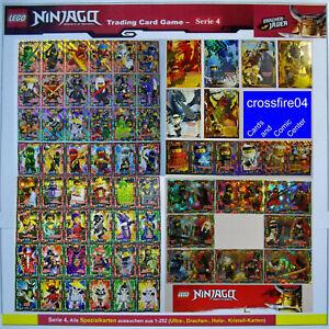 LEGO-NINJAGO-Serie-4-Trading-Card-Game-Karten-Ultra-Holo-Kristal-Drachen-Auswahl