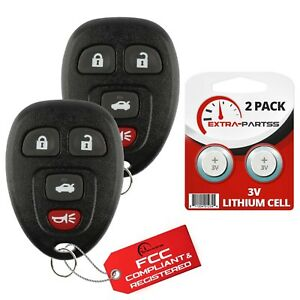 2 For 15912859 Ouc60270 Buick Lucerne Keyless Entry Remote Car Key Fob