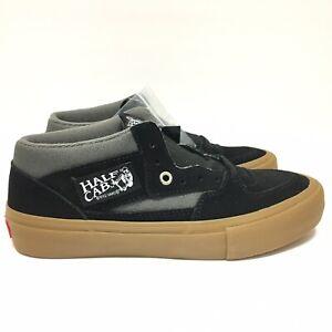 7d839869b5 Vans Half Cab Pro Black Pewter Gum UltraCush Suede Skate Shoes Men s ...