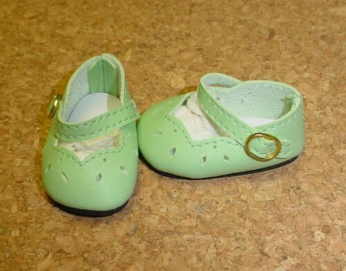 "Doll Shoes Pls Read Desc. 38mm LIGHT GREEN Dress shoes  for 11/"" Kaye Wiggs"