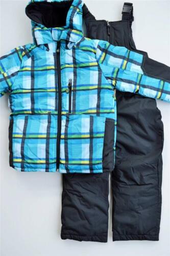 NWT Boys 2T 3T 4T Rugged Bear 2-piece Bib Plaid Snowsuit Ski $100 New