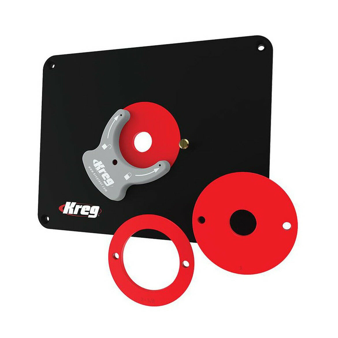 Kreg PRS4038 Router Table Insert Plate w  Level-Loc Rings - Non Protrilled
