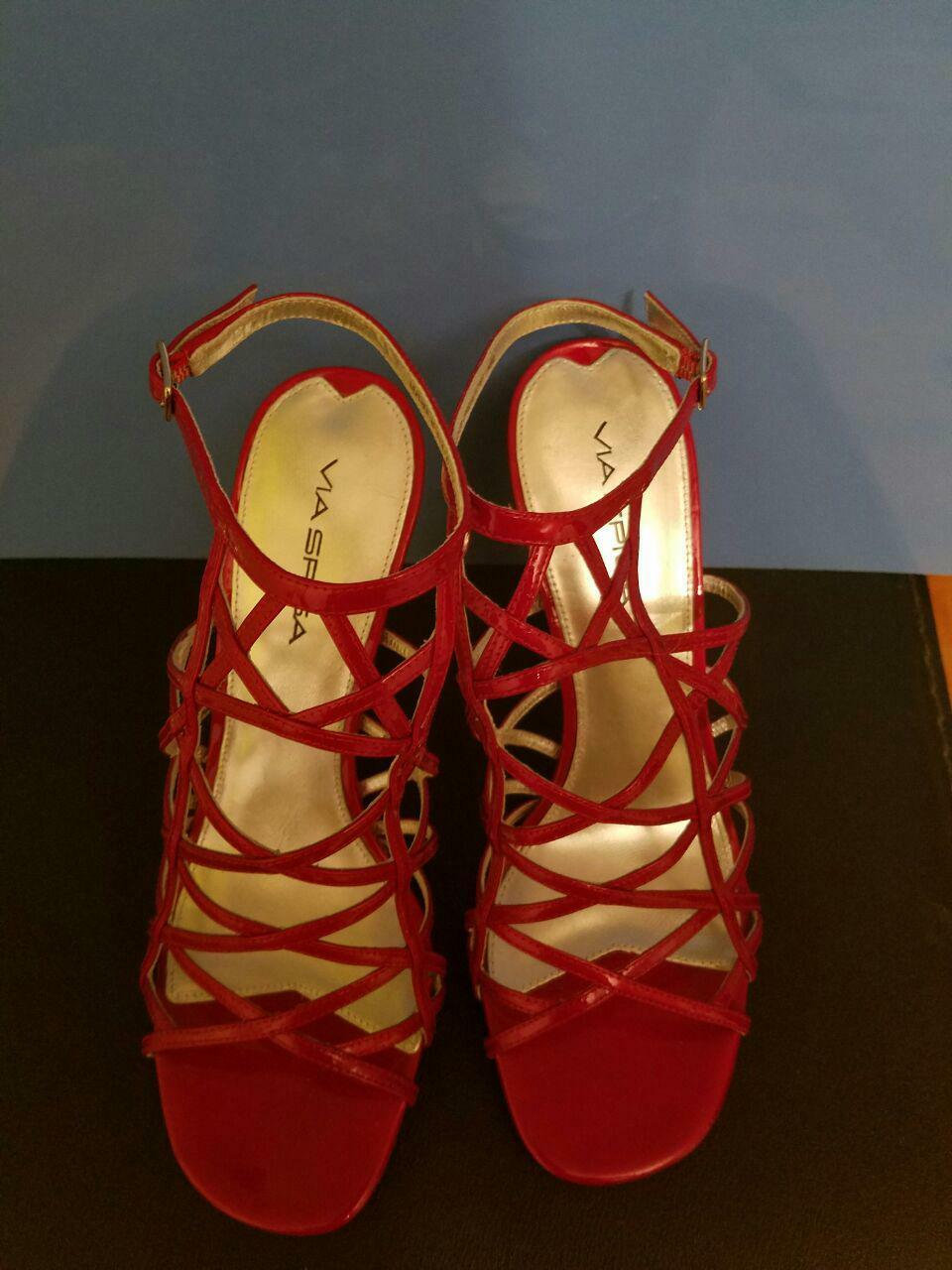 NWOB Women's Via Spiga Straped Straped Straped Sandals Red Size 8M Designed in  39f086
