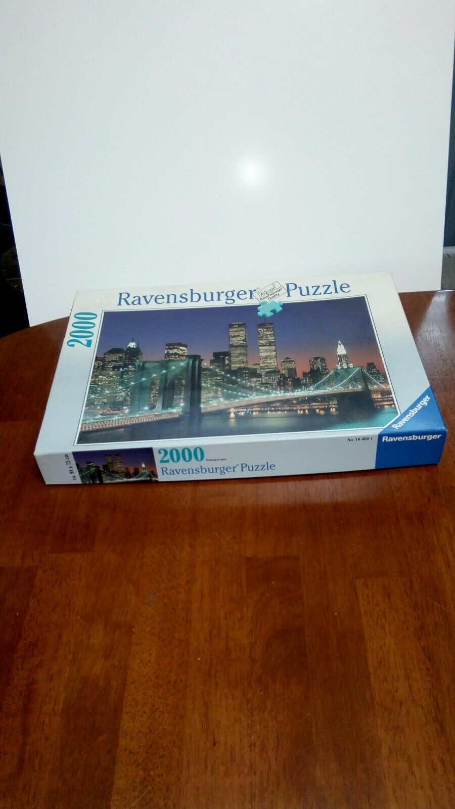 Ravensburger puzzle New Yoek Skyline Brooklyn Bridge Twin Towers