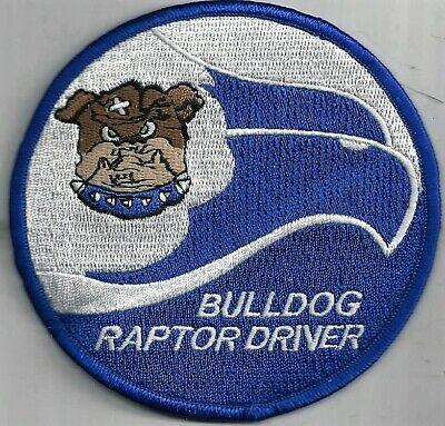USAF 525th FIGHTER SQ PATCH     /'BULLDOG RAPTOR DRIVER/'                   COLOR