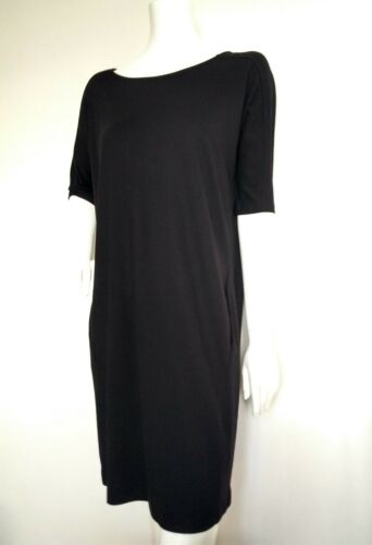 Dress brand Sleeve Size S Black Knee New Loose Elbow Length Jaeger Ponte 7xwR7OT
