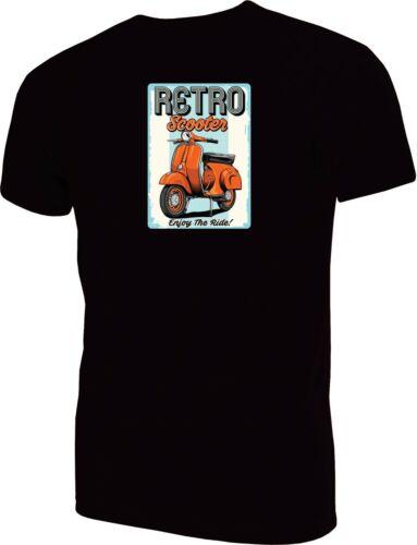 Retro Scooter Print T-Shirt Lambre Mods Soul 60s Ska Vespa