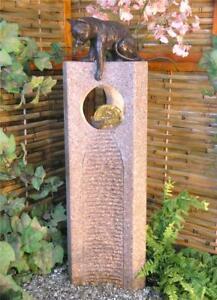 Wasserspiel-SET-Quellstein-Joy-95cm-Granit-Gartenbrunnen-mit-dreh-Glaskugel