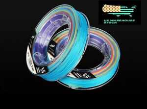 9-Strands-Superline-100M-100lb-Multi-Color-PE-Braided-Fishing-Line-328-ft