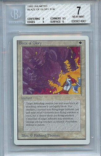 MTG Unlimited Blaze of Glory BGS 7.0 7 NM card Magic WOTC RL 4967