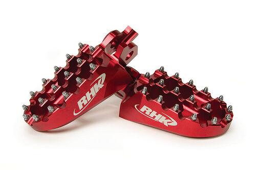 Honda CR250R 2002 2003 2004 2005 2006 Wide Red Footpegs Foot Pegs RHK-F01-R