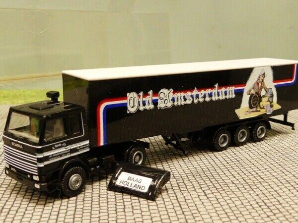 1 87 Herpa albédo Scania 142 Old Amsterdam Baas HOLLAND Valise SZ