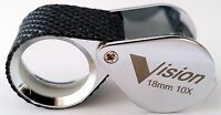 Jewelers Eye Loupe 18mm 10x Rubber Grip Diamond Inspection Gem Magnifier Glass