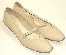 SALVATORE FERRAGAMO~$420~NUDE~PATENT LEATHER~MARY JANE~BALLET FLAT SHOES~9.5 4A