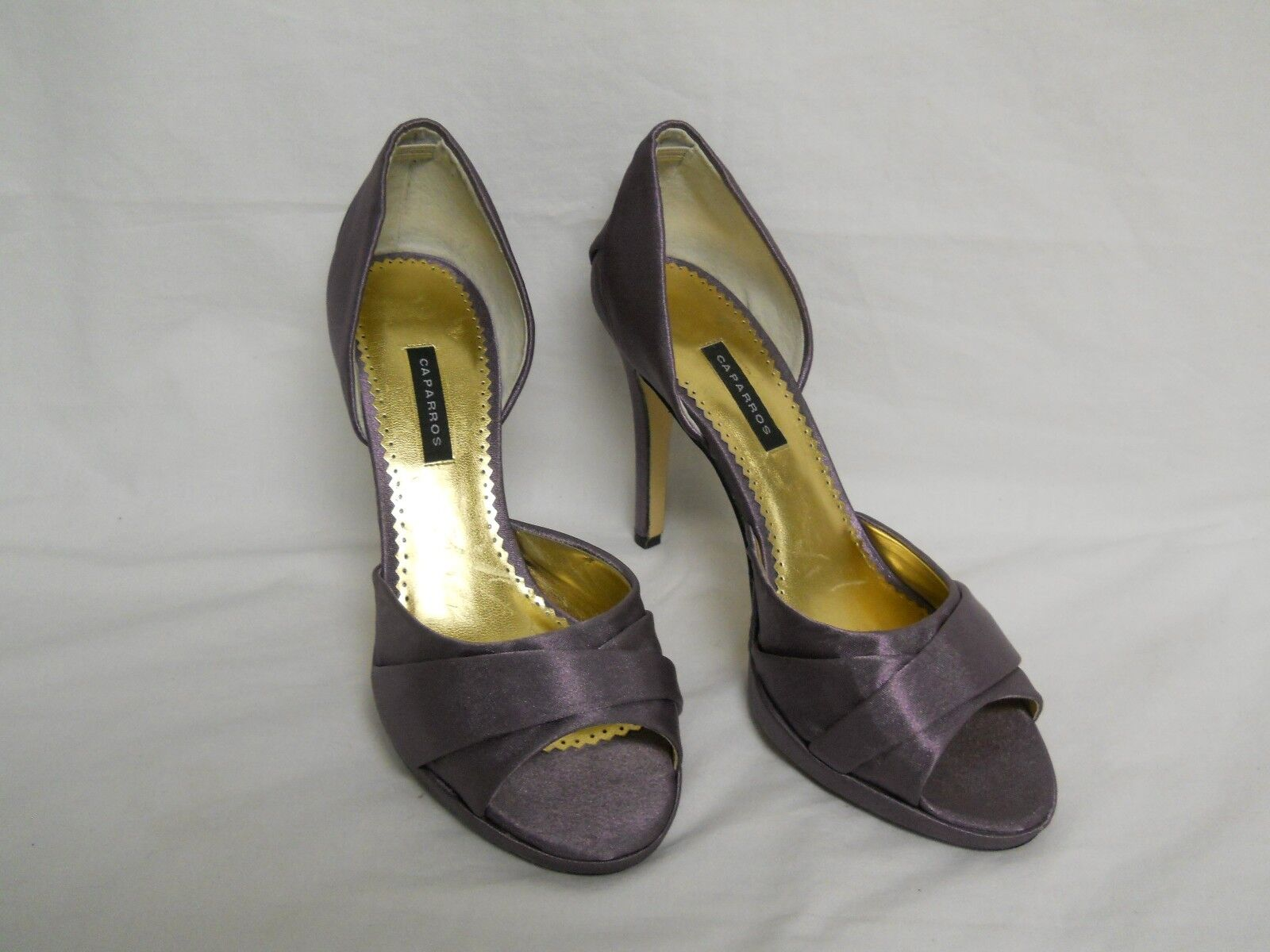 Caparros New Womens Lizzie Nightfall Crepe Open Toe D'Orsay Heels 9 M shoes NWOB
