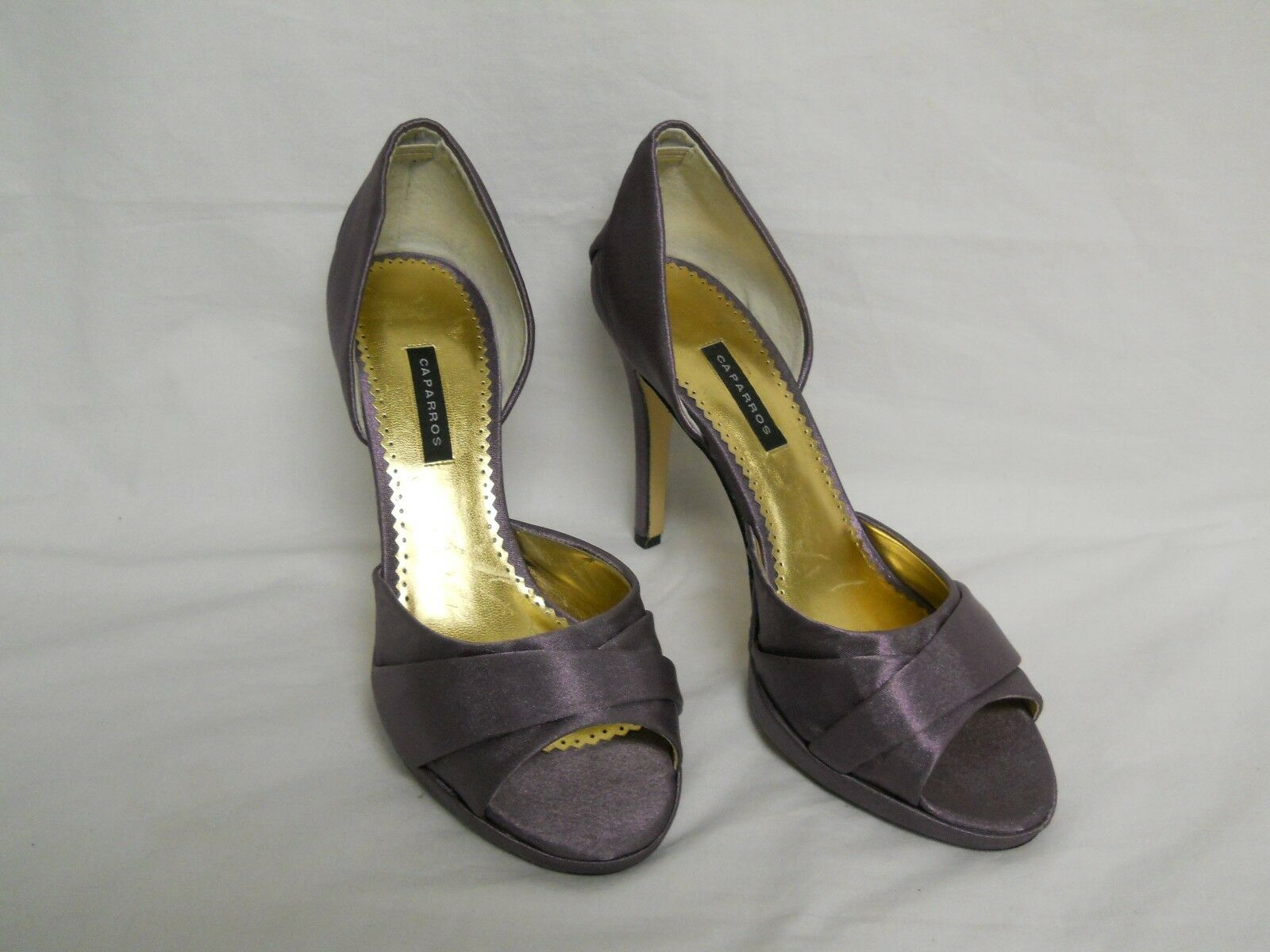 forniamo il meglio Caparros New donna Lizzie Nightfall Crepe Open Toe D'Orsay Heels Heels Heels 9 M scarpe NWOB  protezione post-vendita