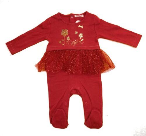 NEU Baby Mädchen Baumwolle  Strampler mit Tüll Rock Gr.56 62 68 74 Englandmode