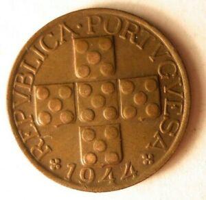 1944-Portugal-20-Moneda-Gran-Moneda-Superior-Vintage-Bin-21