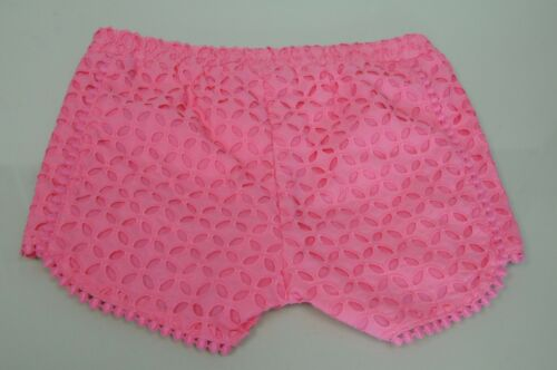 New Lilly Pulitzer Target Kids Classic Pink Eyelet Girls Shorts Size XS S M