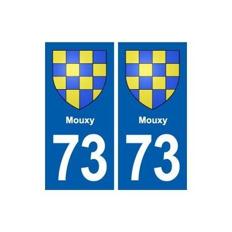 73 Mouxy blason autocollant plaque immatriculation ville arrondis
