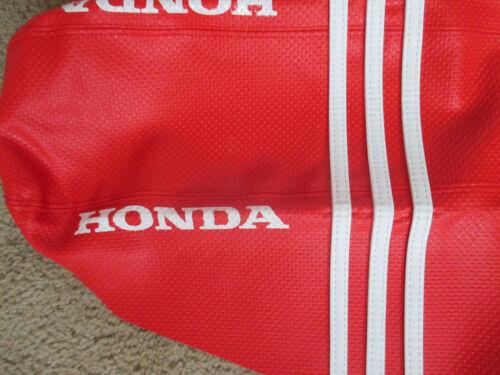 TEAM HONDA RED RIBBED GRIPPER SEAT COVER HONDA CRF250R CRF250 04 05 06 07 08 09