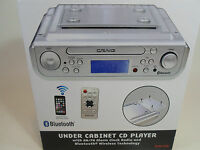 Craig Under Cabinet Cd Player Am/fm Radio Alarm Clock Bluetooth Kitchen