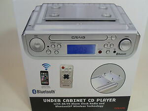 kitchen radio under cabinet bluetooth craig cabinet cd player am fm radio alarm clock 8404