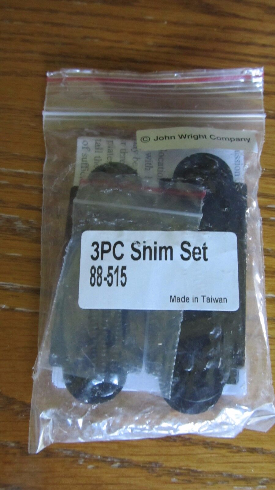 7 NEW John Wright 88-515 3 PC Shim Set for use with NY and Offset Straps