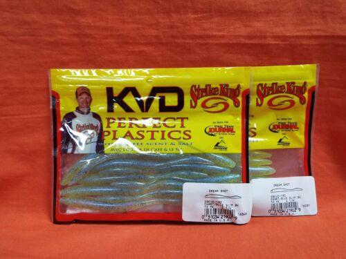 """2 pks #DSKVD-190 ChBlGlmBk 4 1//4/"""" STRIKE KING Perfect Plastics KVD Dream Shot"""