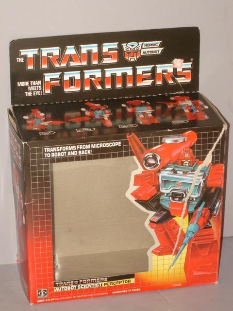 G1 TRANSFORMER AUTOBOT PERCEPTOR EMPTY BOX  LOT