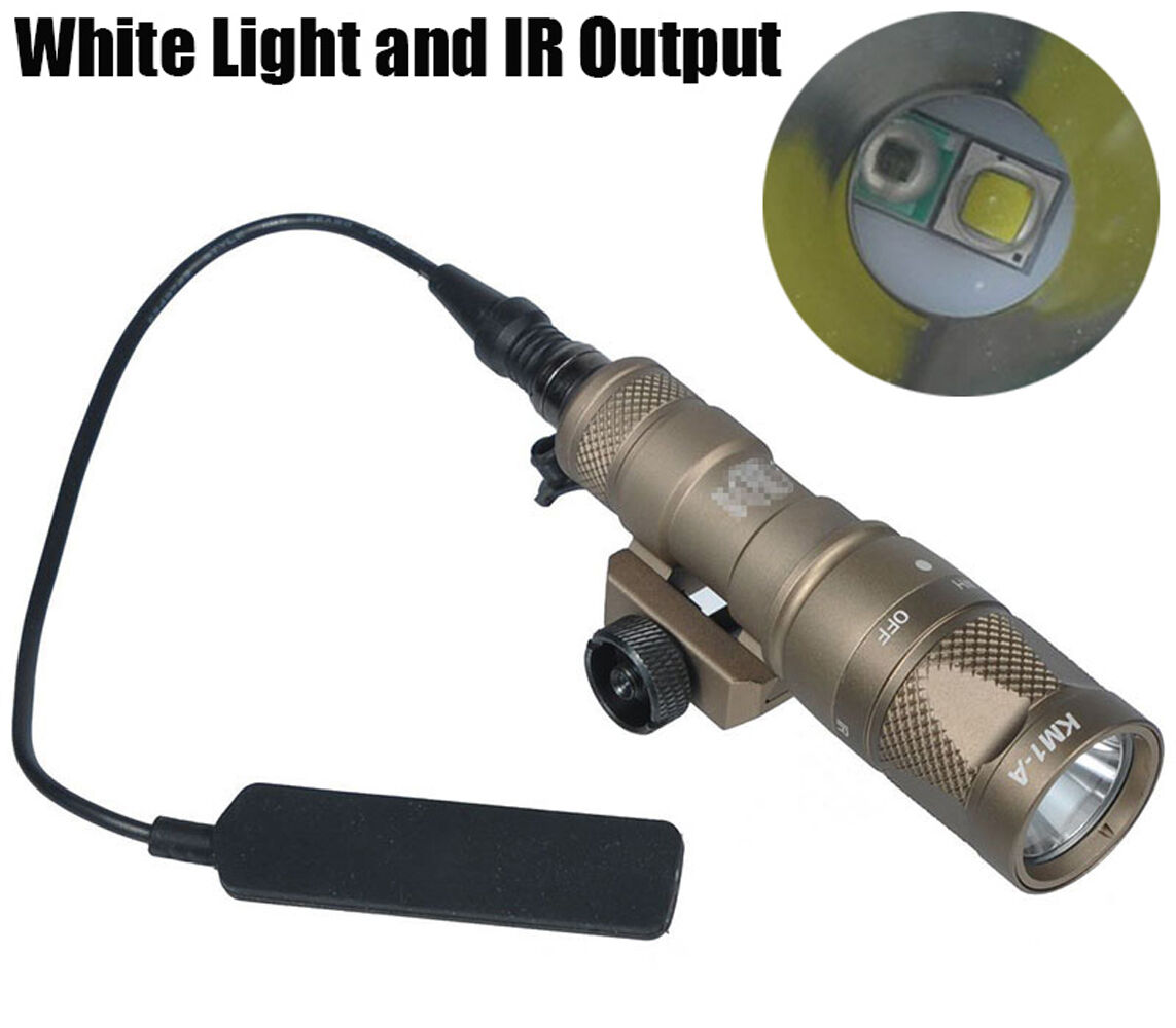 M300V-IR Scout Light LED White Light & Infrared Dual Output Mini Weapon Light