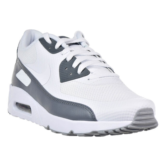 d62de869fa Nike Air Max 90 Ultra 2.0 Essential White Cool Grey Men Running Shoes  875695-102 11.5