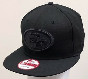NEW ERA 9FIFTY SNAPBACK CUSTOM NFL SAN FRANCISCO 49ERS Black Black ... 6962fbd9a54