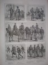 UNGHERIA Esercito la Honved o Landwehr 1888 VECCHIE STAMPE