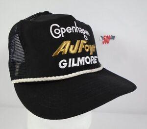 Copenhagen-AJ-Foyt-Gilmore-Emblem-Trucker-Snapback-Collector-Hat-14-Indy-500