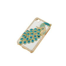 Peacock Bling Faux Diamond Crystal Hard Back Case for iPhone 4S 4 4G