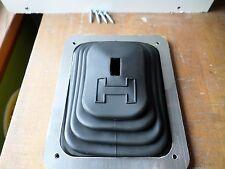 """Hurst B-4 Rubber Floor Tunnel """"H"""" Boot & Trim Plate Kit for Chrome Stick Shifter"""