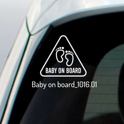 Baby on Board Safety Sticker Funny Kids Decal Car Truck  Window Bumper Vinyl