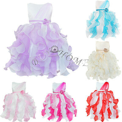 Flower Girl Princess Dress Pageant Wedding Bridesmaid Formal Party XMAS Dresses