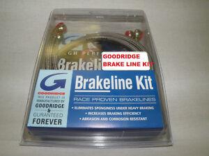 Dual-Disc-Front-Brake-Line-Complete-Kit-Goodridge-Stainless-Harley-FXR-1987-94