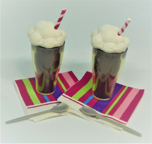 Food Play Root Beer Floats for 18 in American Girl Doll Accessory Spoons Napkins