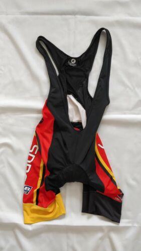 Pactimo Mens SDBC SAN DIEGO Bike Club Large Cycling Bib Shorts Black//Red