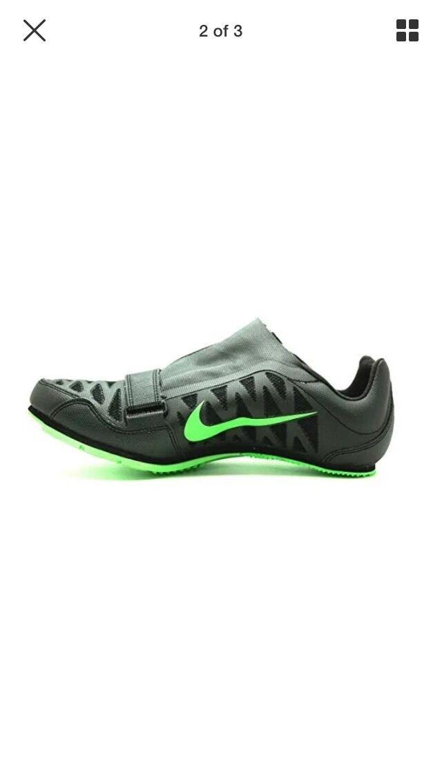 Nike Zoom LJ 4 Long Jump Shoes Spikes Black Volt 415339-035 Mens Sz 12.5 NNB