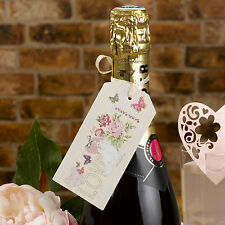 10 LUGGAGE TAGS Ivory Wedding WITH LOVE Vintage for Napkins Cutlery Wine Bottles