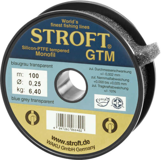STROFT GTM 1000 m Monofile Angelschnur 0.325 mm 9.3 Kg Blaugrau transparent